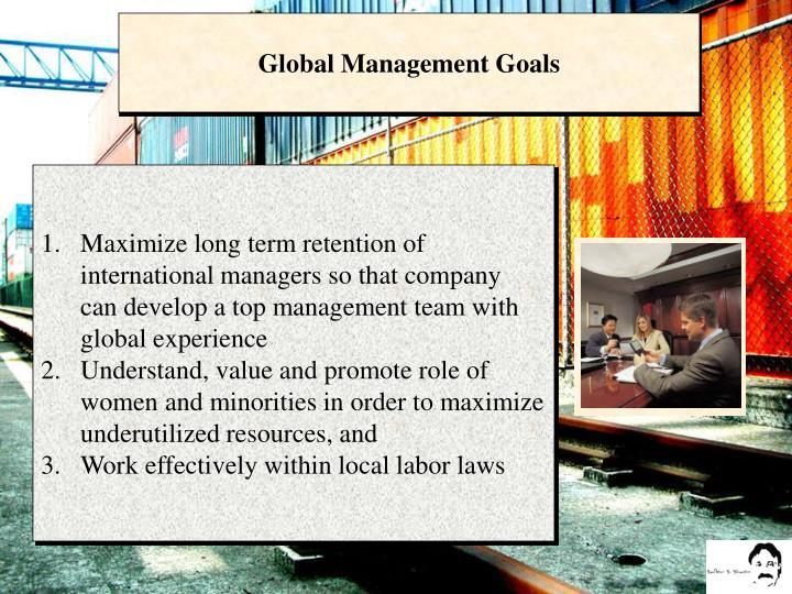 Global Management Goals