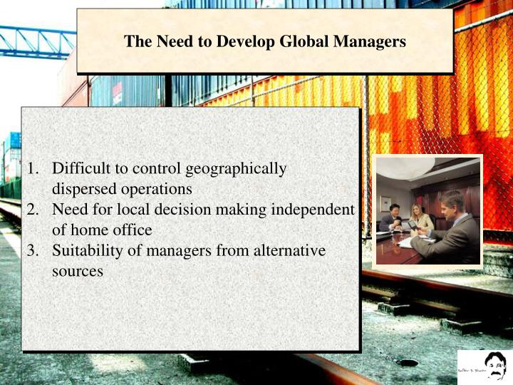 The Need to Develop Global Managers