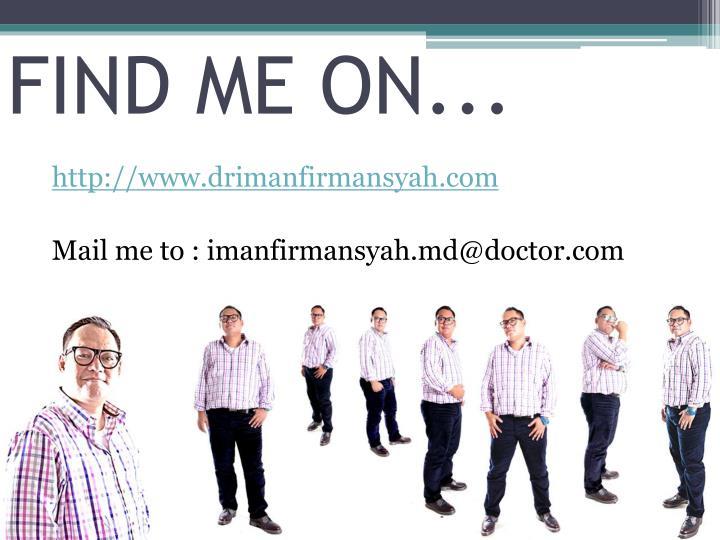 FIND ME ON...