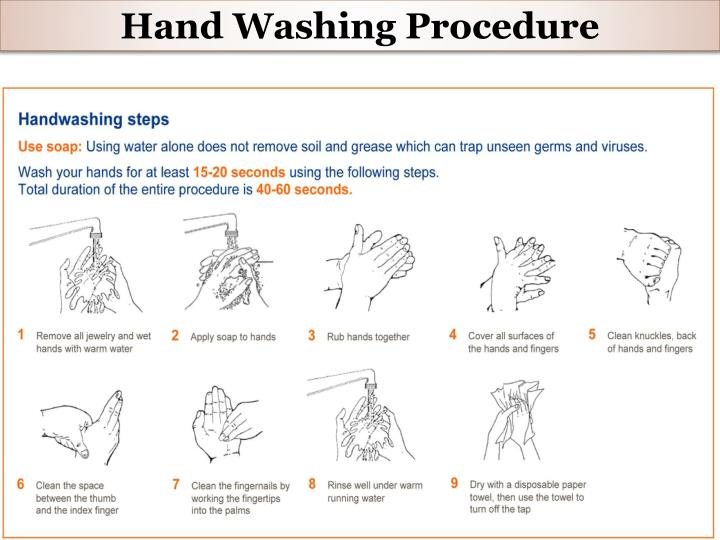 Hand Washing Procedure