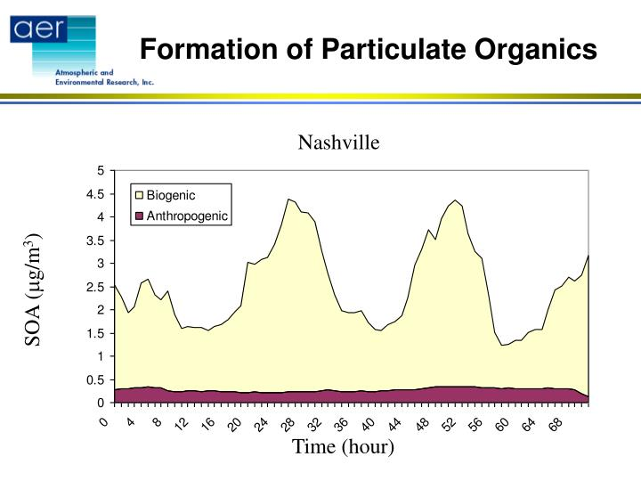 Formation of Particulate Organics