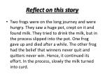 reflect on this story