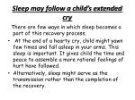 sleep may follow a child s extended cry