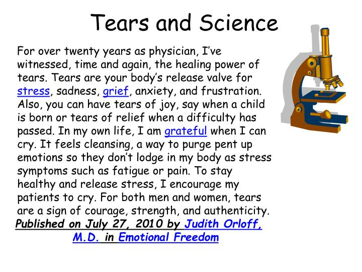 Tears and Science