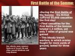 first battle of the somme