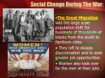 social change during the war