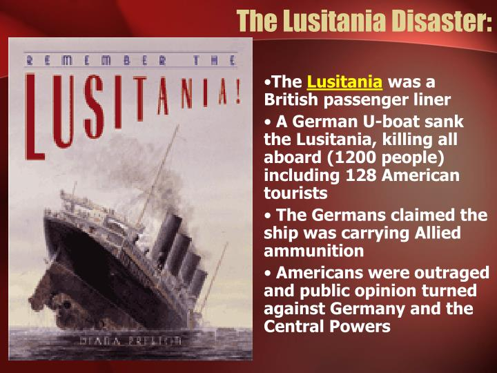 The Lusitania Disaster: