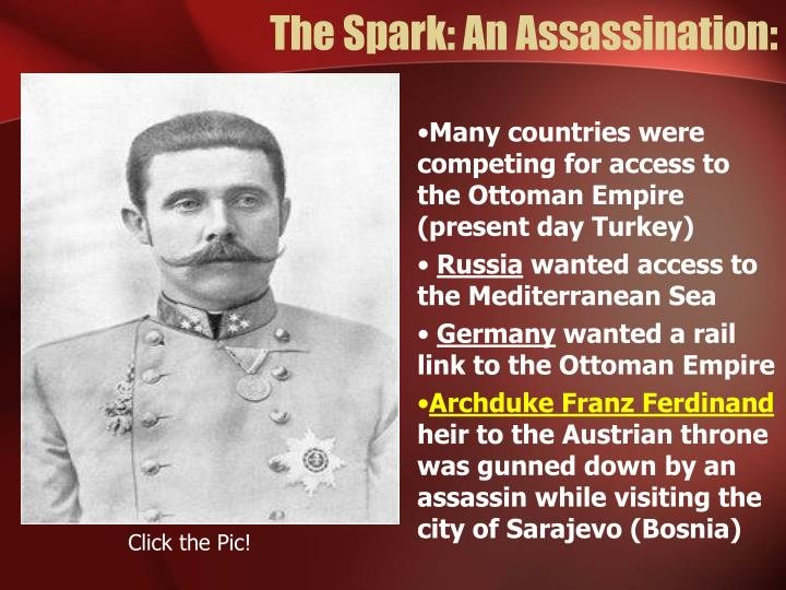 The Spark: An Assassination: