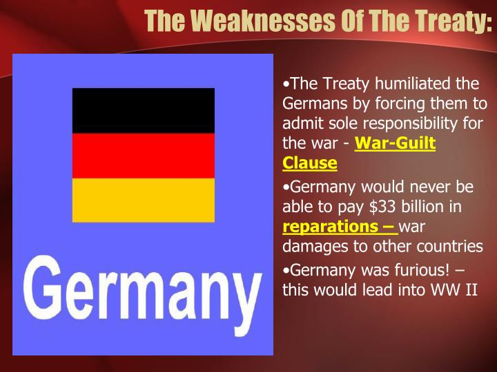 The Weaknesses Of The Treaty: