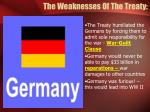 the weaknesses of the treaty