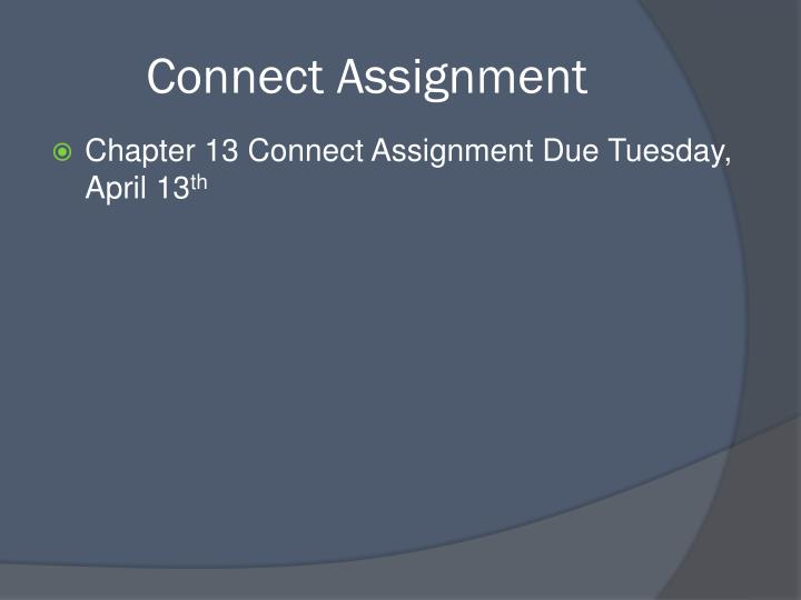 Connect Assignment