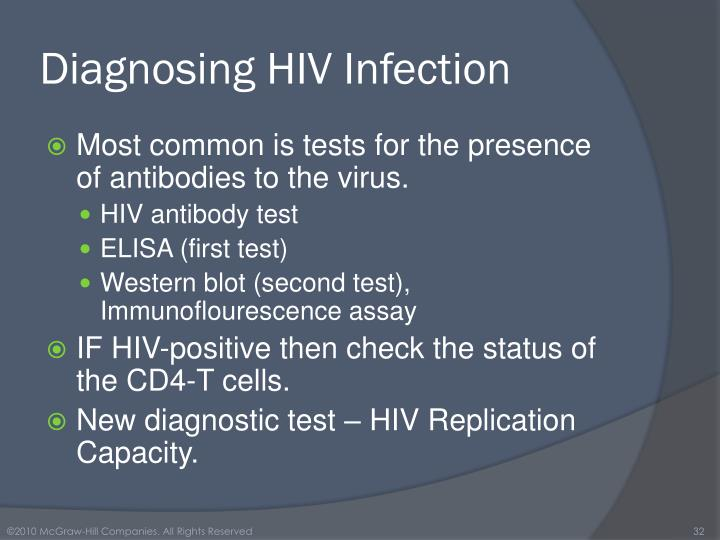 Diagnosing HIV Infection