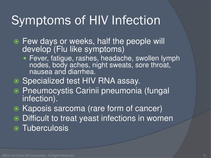 Symptoms of HIV Infection