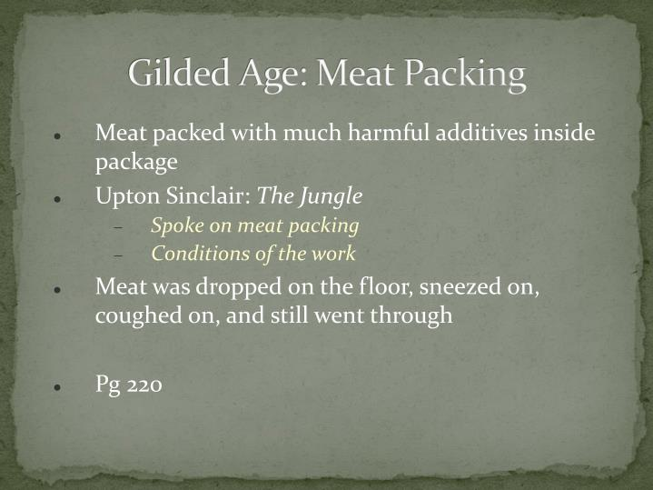 Gilded Age: Meat Packing