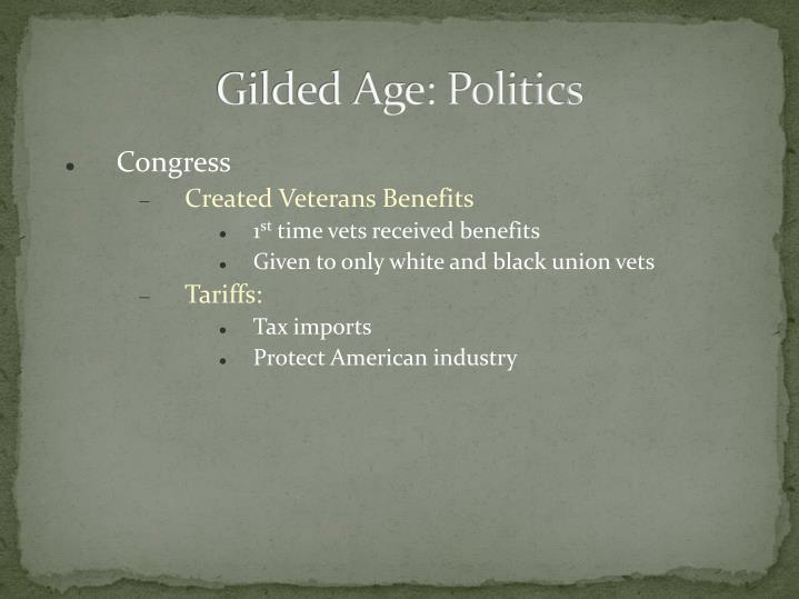 Gilded Age: Politics
