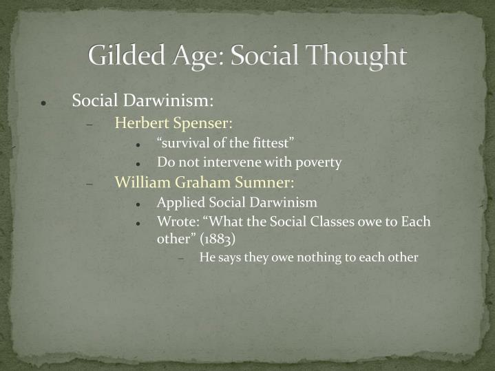 Gilded Age: Social Thought