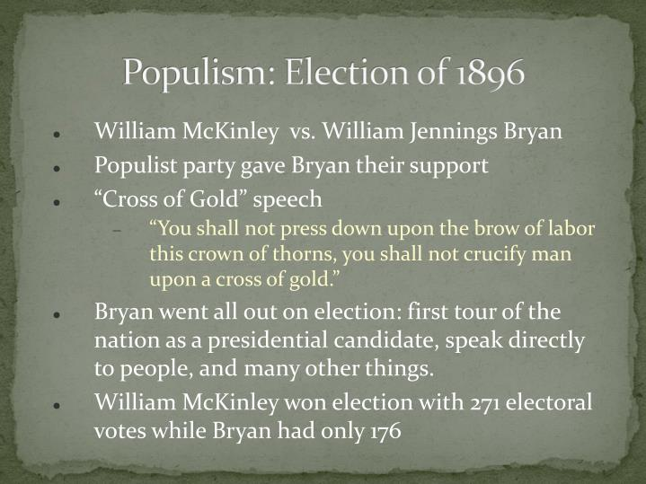 Populism: Election of 1896