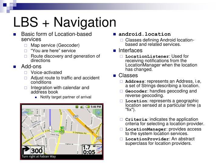 LBS + Navigation