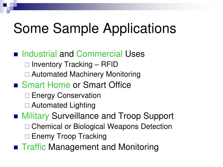 Some Sample Applications