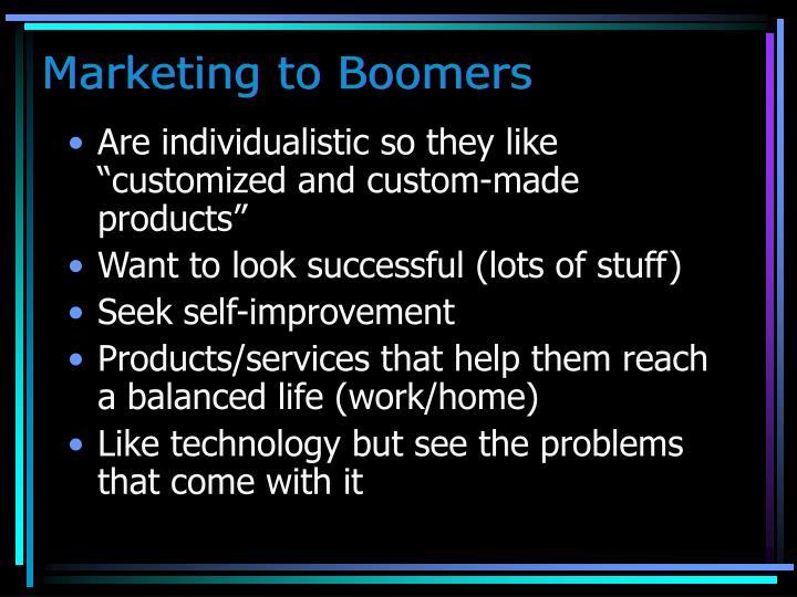 Marketing to Boomers