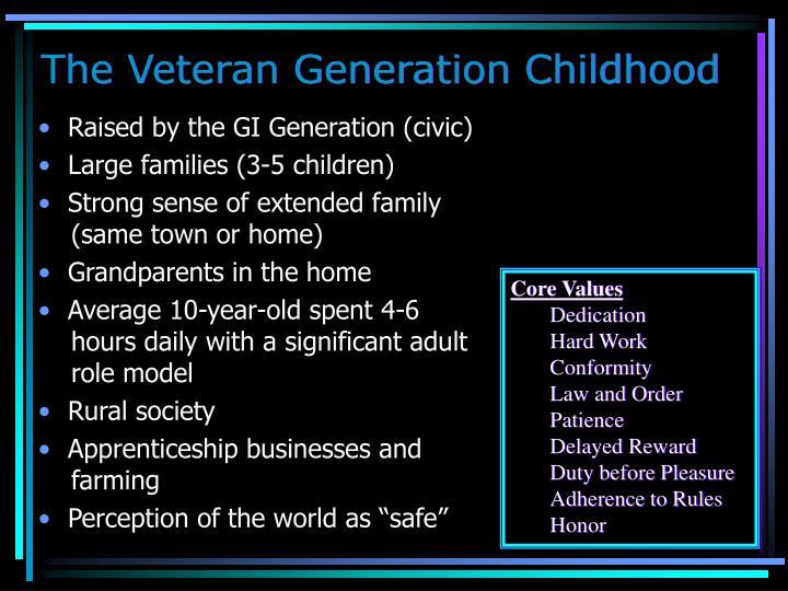 The Veteran Generation Childhood