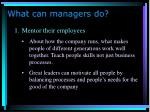 what can managers do