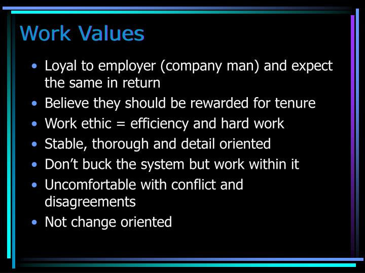 Work Values