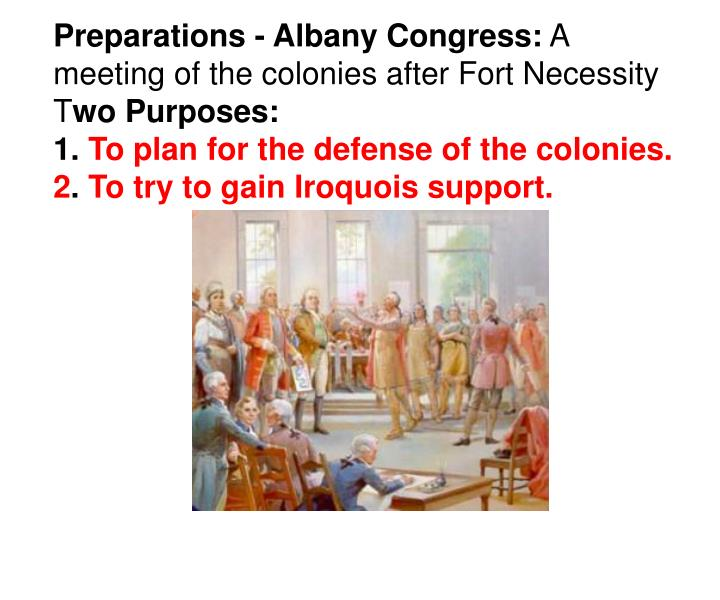 Preparations - Albany Congress: