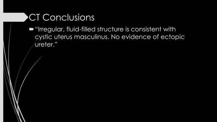CT Conclusions