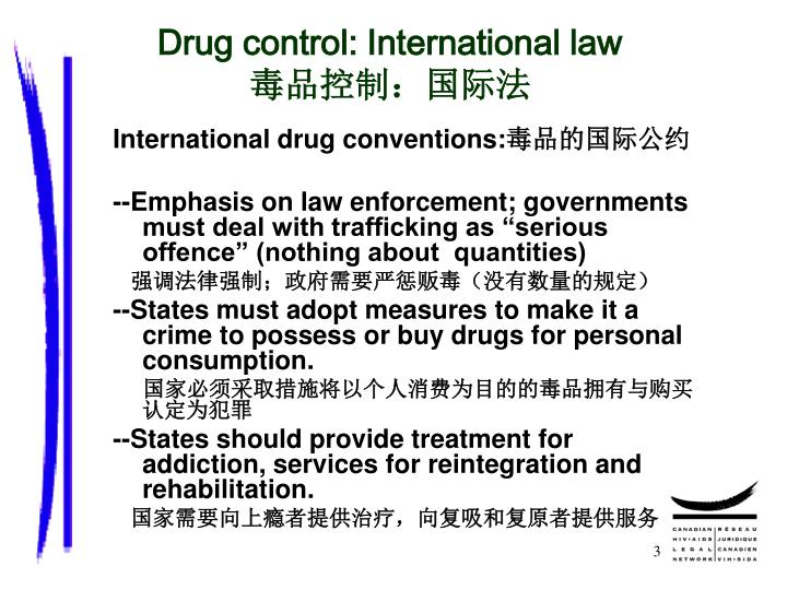 Drug control: International law