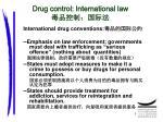 drug control international law