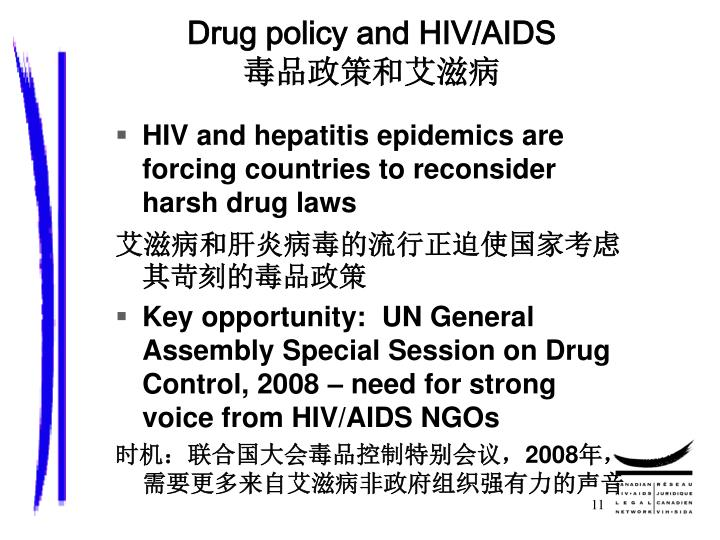 Drug policy and HIV/AIDS