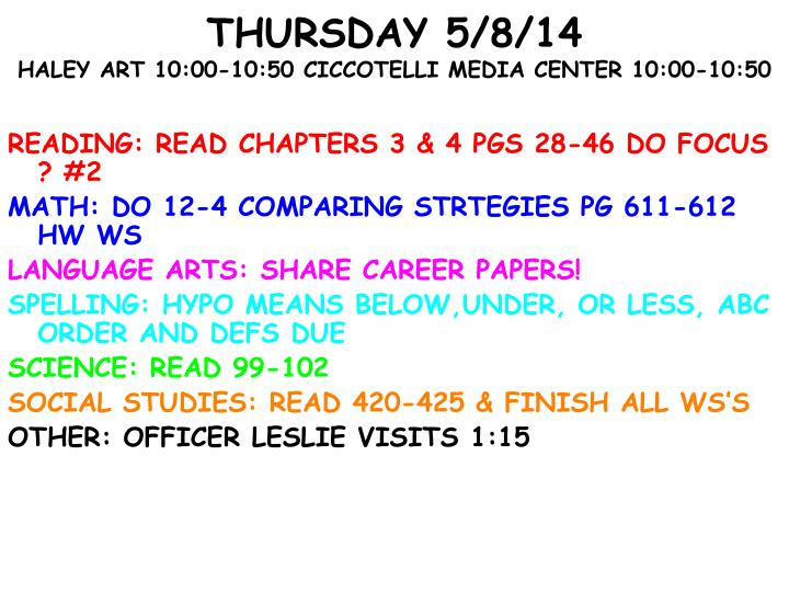 READING: READ CHAPTERS 3 & 4 PGS 28-46 DO FOCUS ? #2