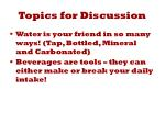 topics for discussion1