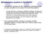 multiplanetary systems in the dassc