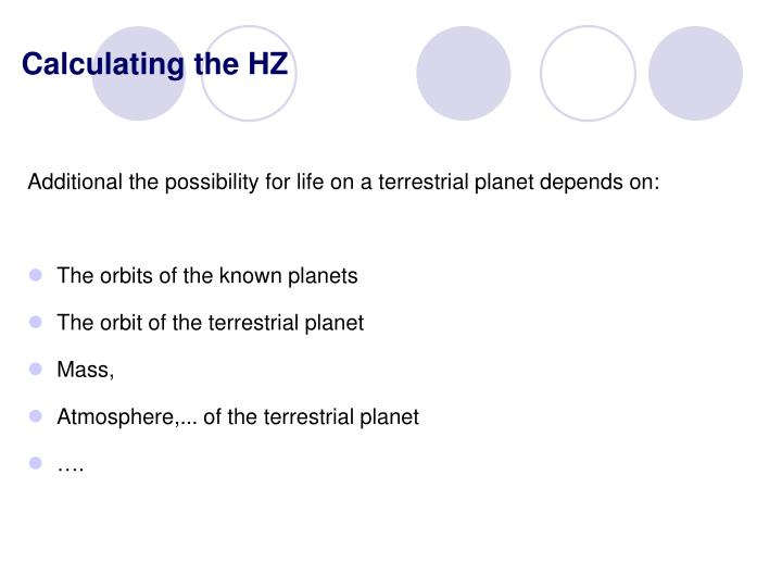 Calculating the HZ