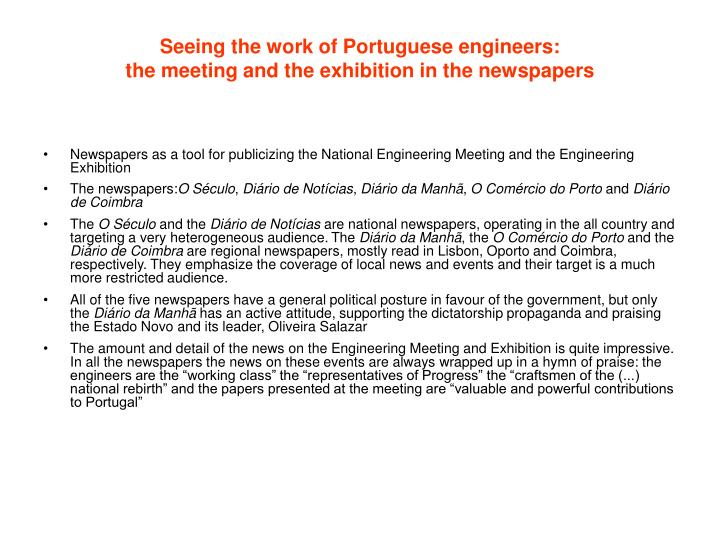 Seeing the work of Portuguese engineers: