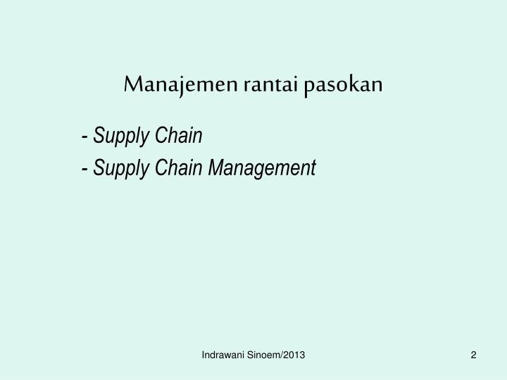 Manajemen rantai pasokan