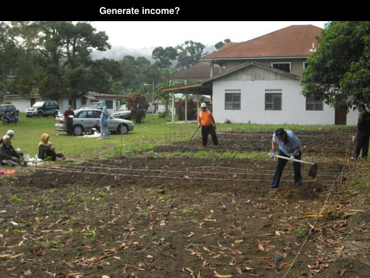 Generate income?