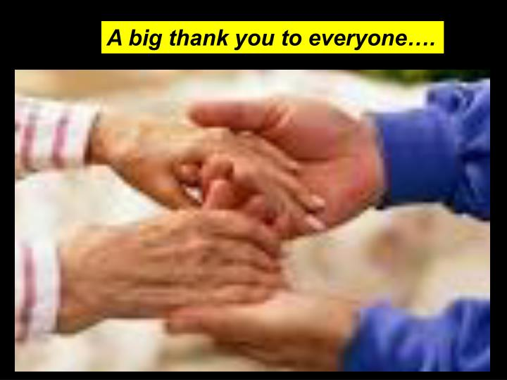 A big thank you to everyone….