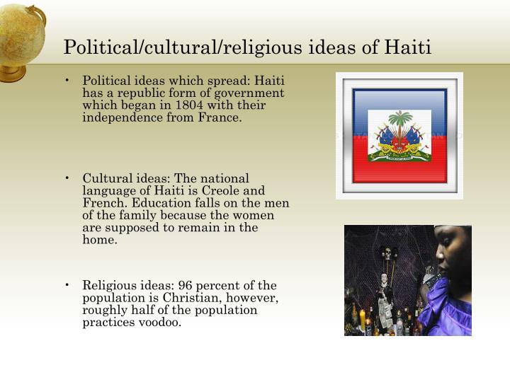 Political/cultural/religious ideas of Haiti