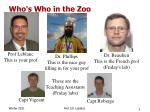 who s who in the zoo