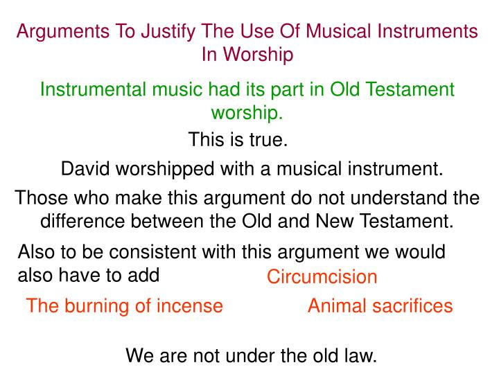 Arguments To Justify The Use Of Musical Instruments In Worship