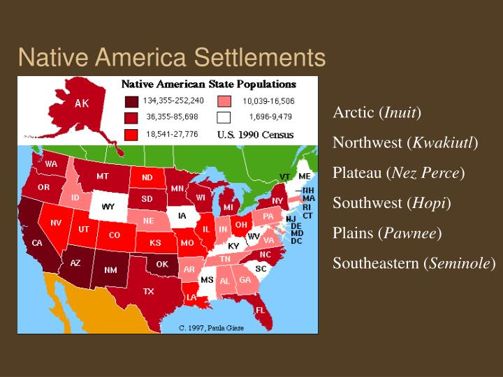 Native America Settlements