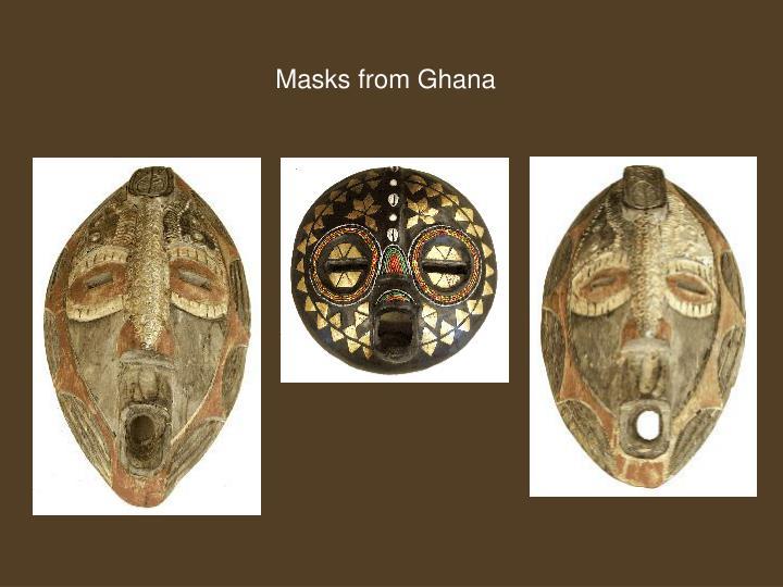 Masks from Ghana