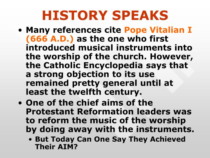 HISTORY SPEAKS