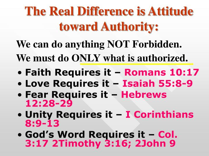 The Real Difference is Attitude toward Authority: