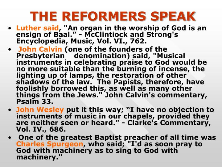 THE REFORMERS SPEAK