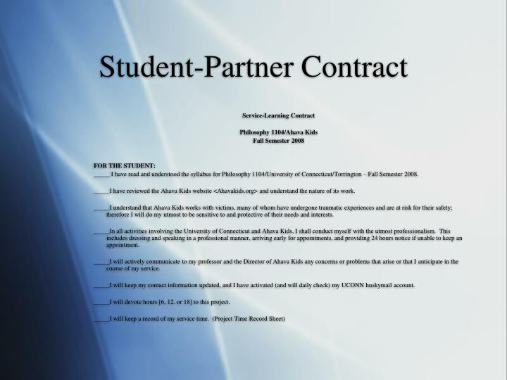 Student-Partner Contract