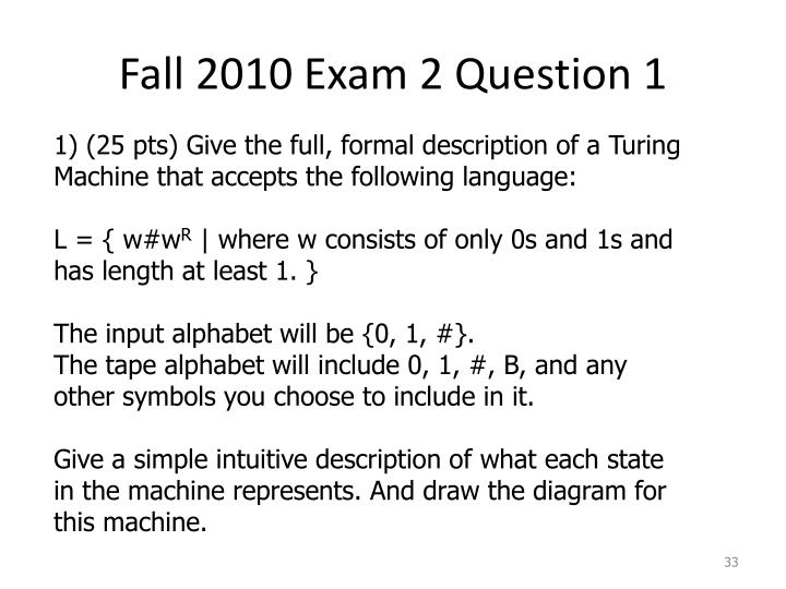 Fall 2010 Exam 2 Question 1